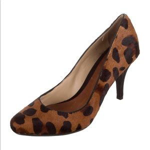 Schutz Pointy-Toe Ponyhair Pumps, size 6